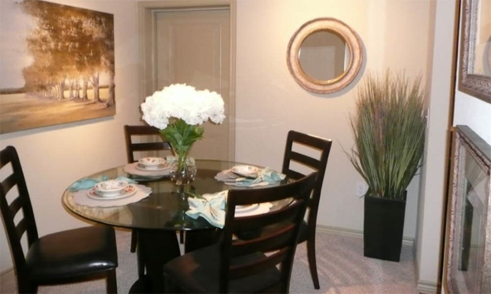 Dining room at Pecan Springs Apartments
