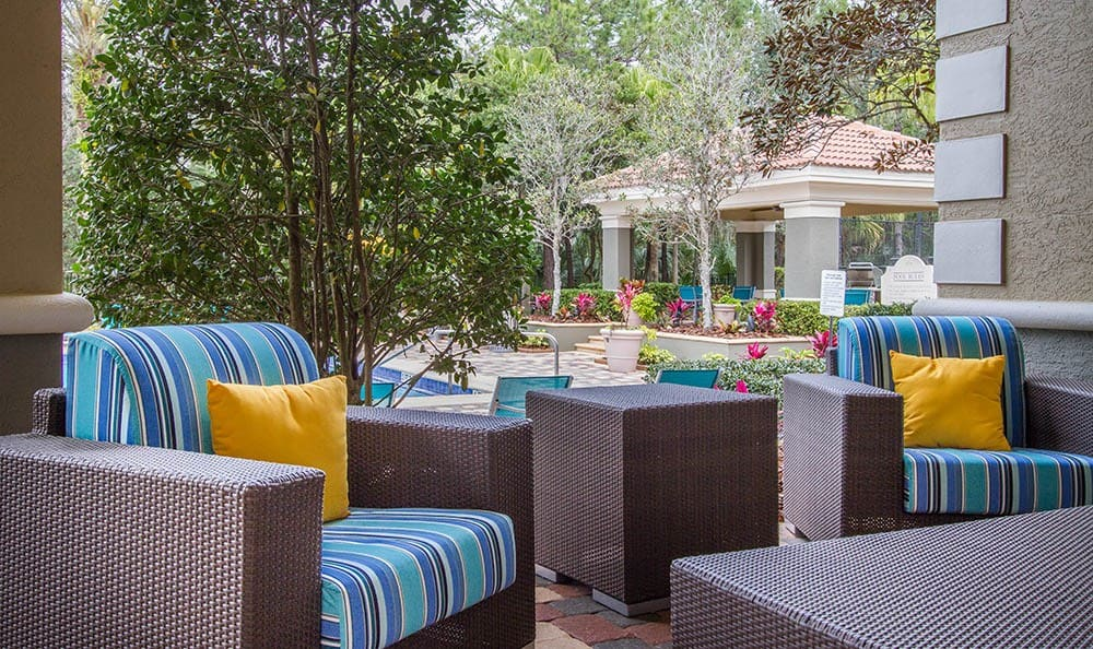 Comfortable Outdoor Seating at The Preserve at Tampa Palms in Tampa, FL