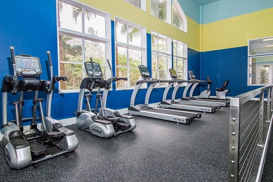 Well equipped gym at The Preserve at Tampa Palms