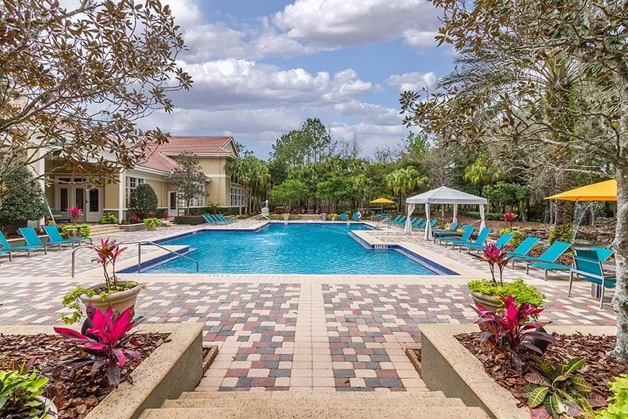 Resort-style pool at The Preserve at Tampa Palms