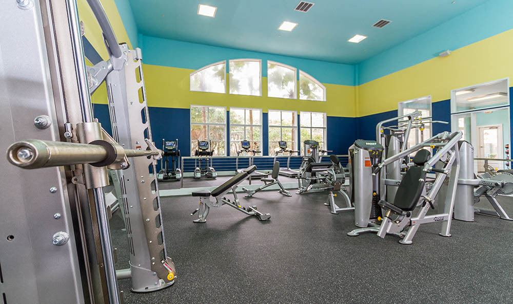 Well Equipped Fitness Center at The Preserve at Tampa Palms in Tampa, FL