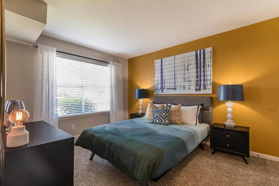 Bedroom at South Pointe Apartments in Dallas