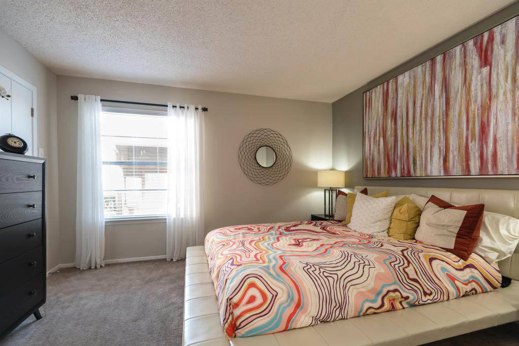 Master Bedroom at The Carling on Frankford in Carrollton, TX