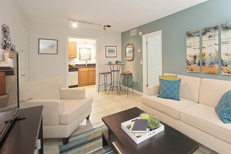Colorful Living Room at Altamonte at Spring Valley in Altamonte Springs