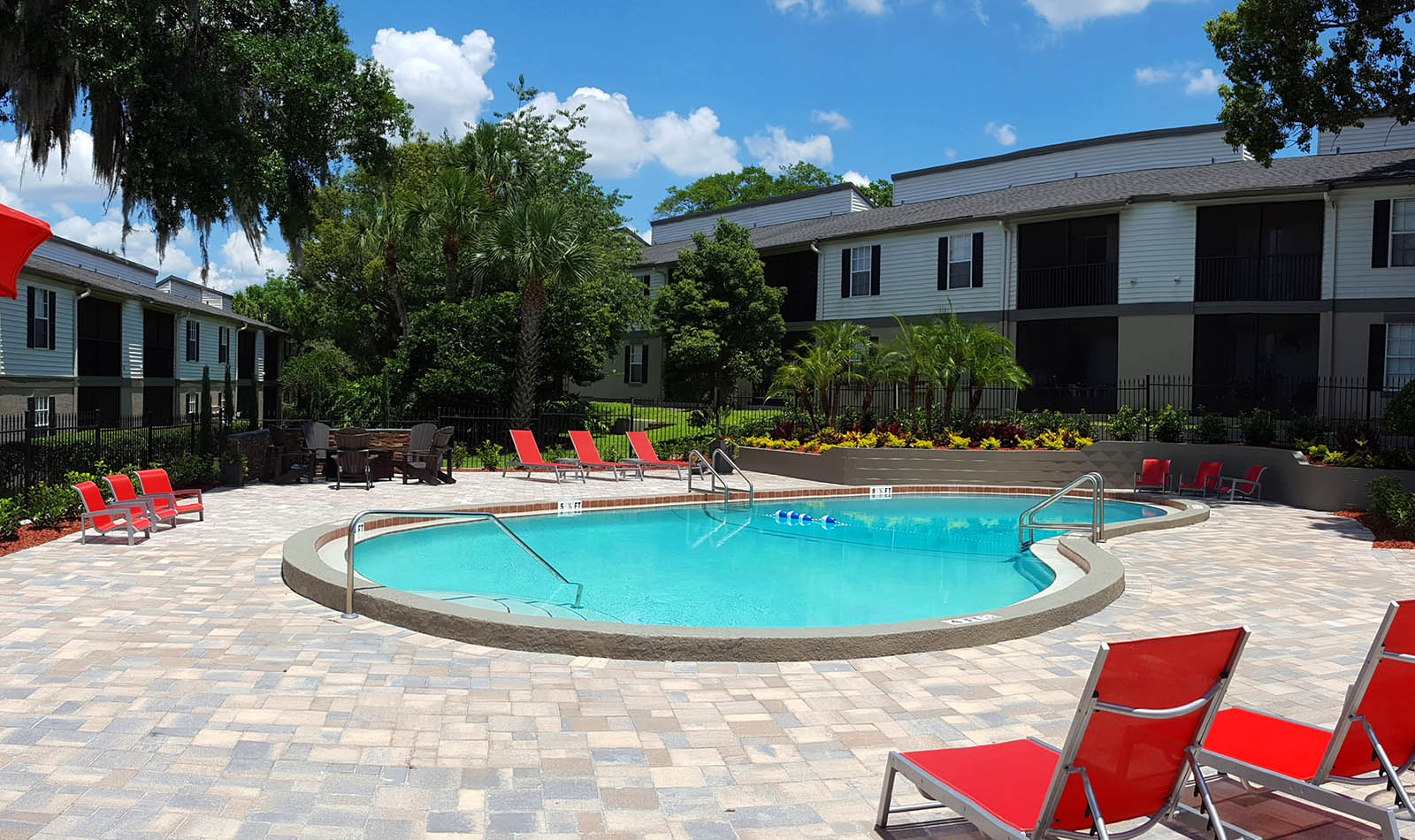 Resort Style Pool Deck at Altamonte at Spring Valley in Altamonte Springs, FL
