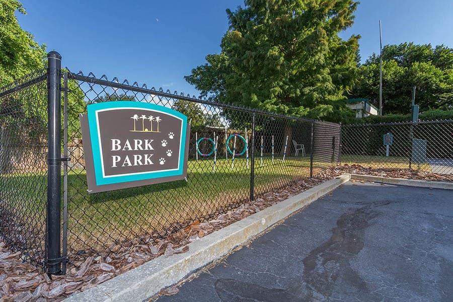 Dog park at Bay Pointe Tower in South Pasadena