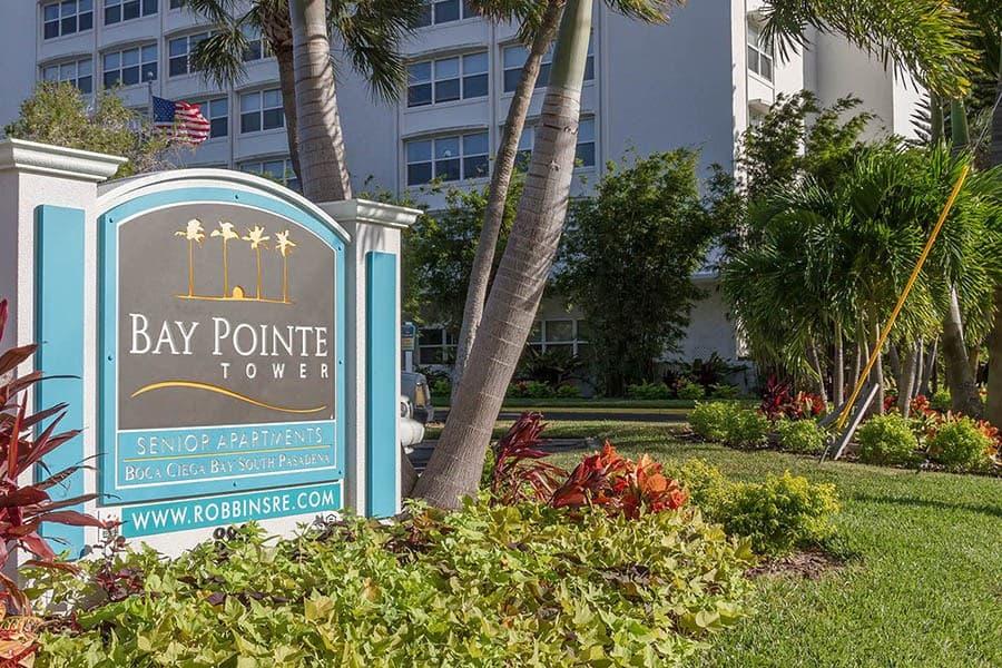 Signage at Bay Pointe Tower in South Pasadena