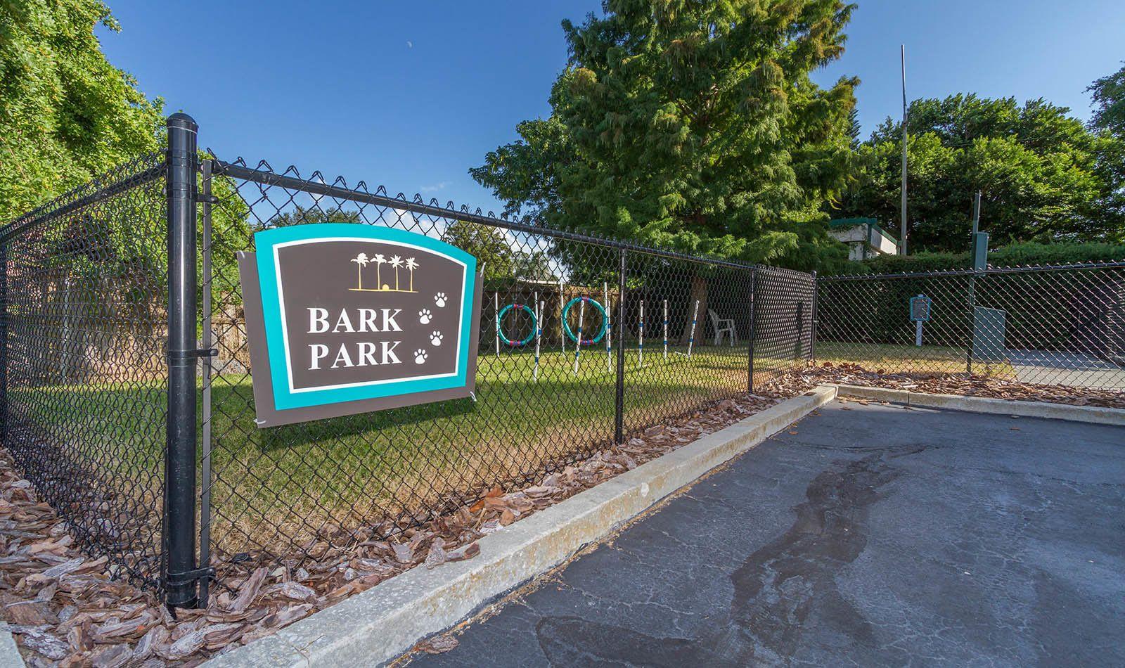Dog park at Bay Pointe Tower in South Pasadena, FL
