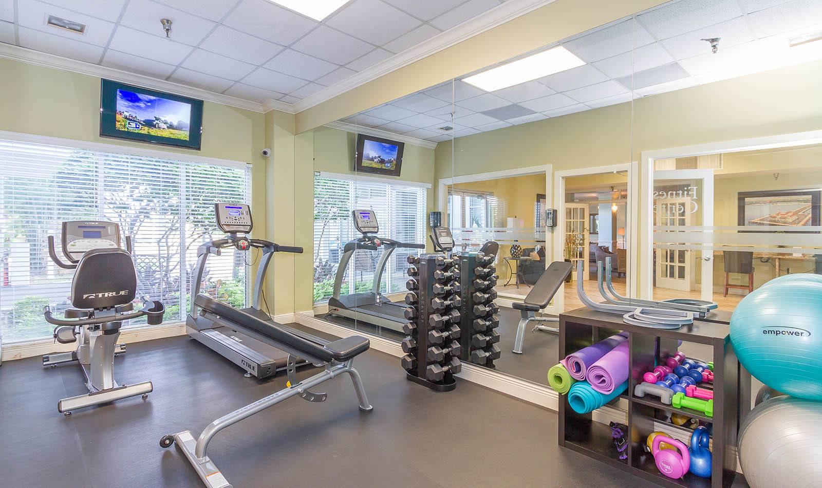 Gym at apartments in South Pasadena, FL