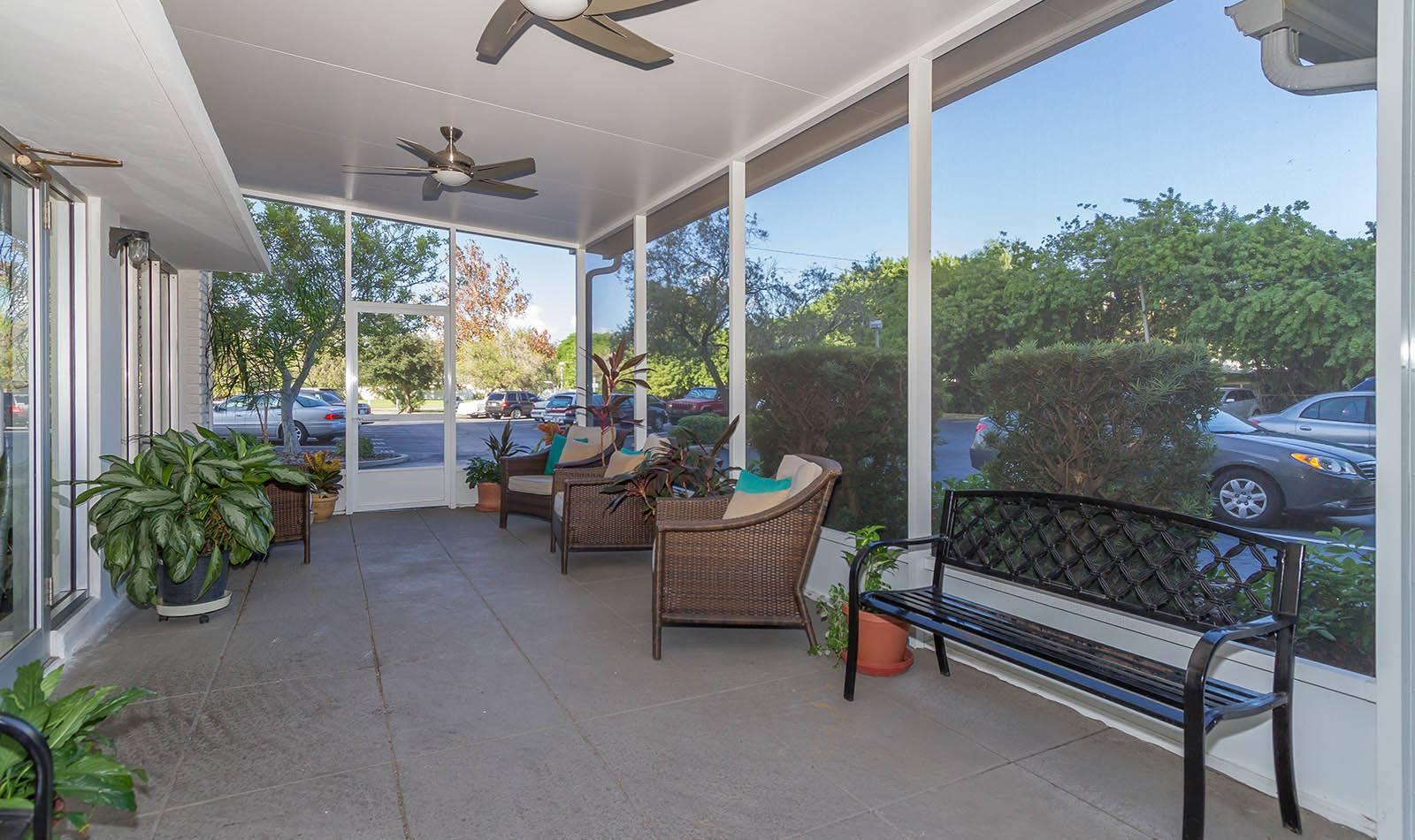 Outside room at apartments in South Pasadena, FL
