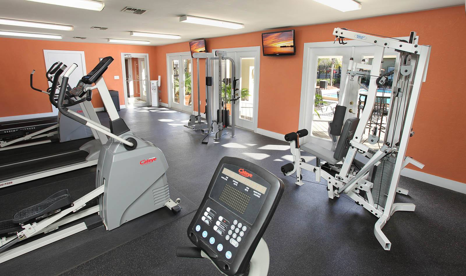 Gym at apartments in Winter Haven, FL