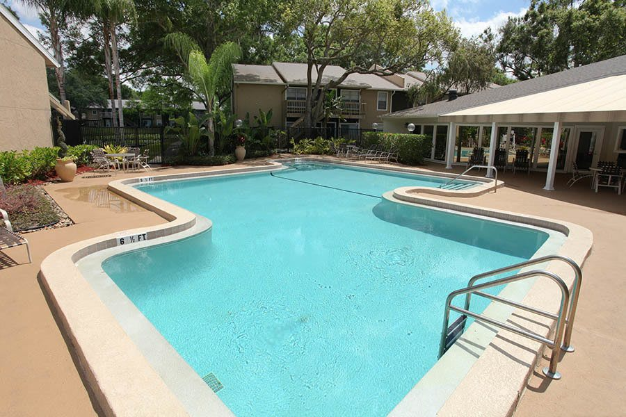 Sparkling pool at Coopers Pond Apartments in Tampa