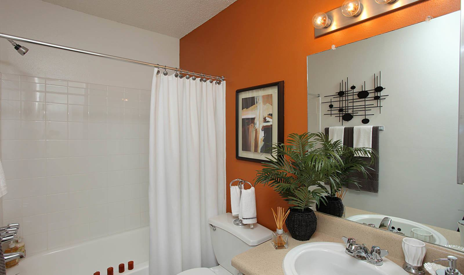 Bathroom at Coopers Pond Apartments in Tampa, FL
