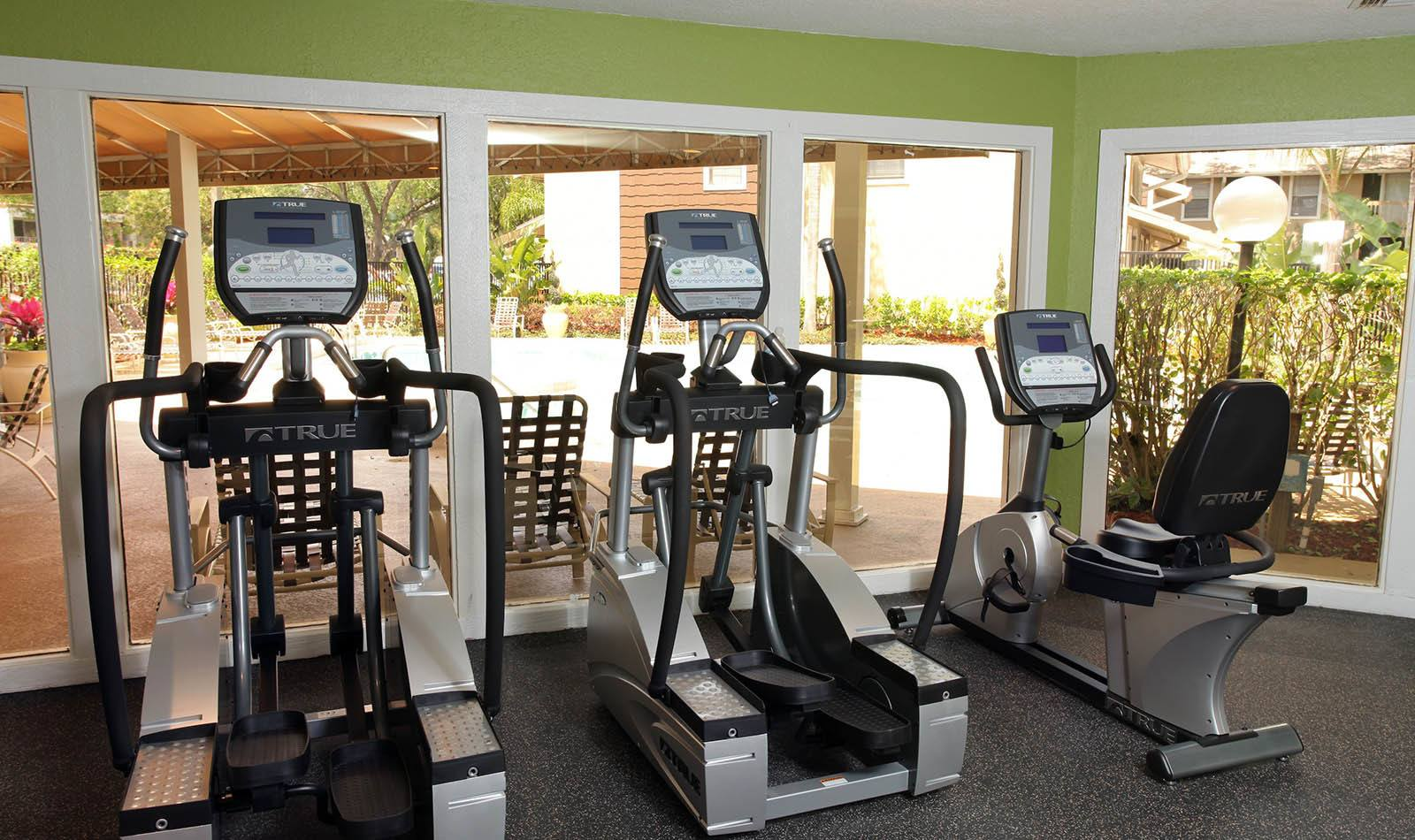 Gym at Coopers Pond Apartments in Tampa, FL