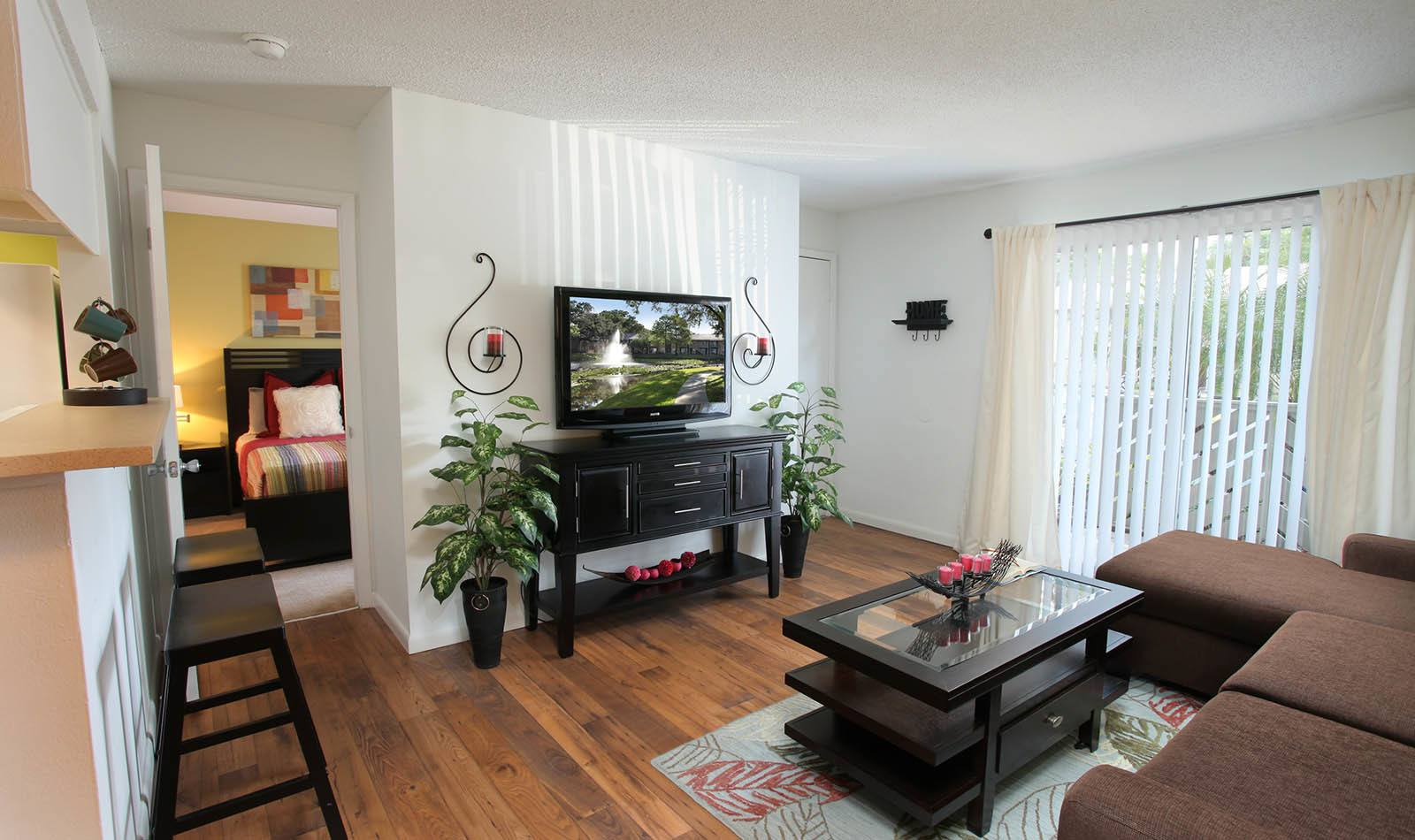 Living room at apartments in Tampa, FL