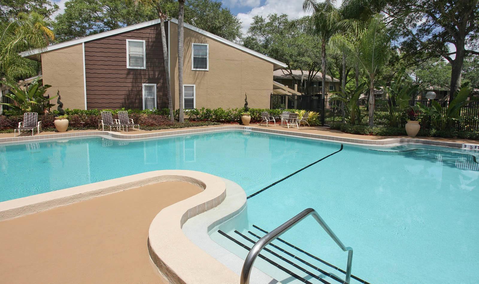 Pool at apartments in Tampa, FL