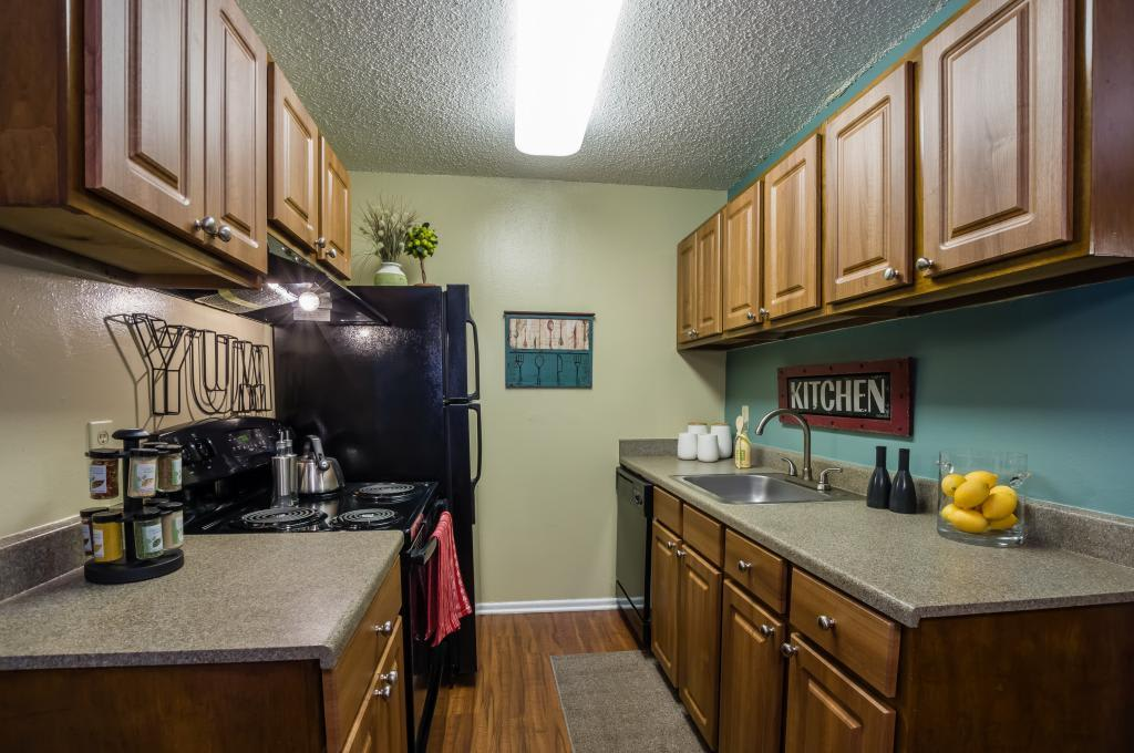 Kitchen at Landmark at Atrium Commons in San Antonio