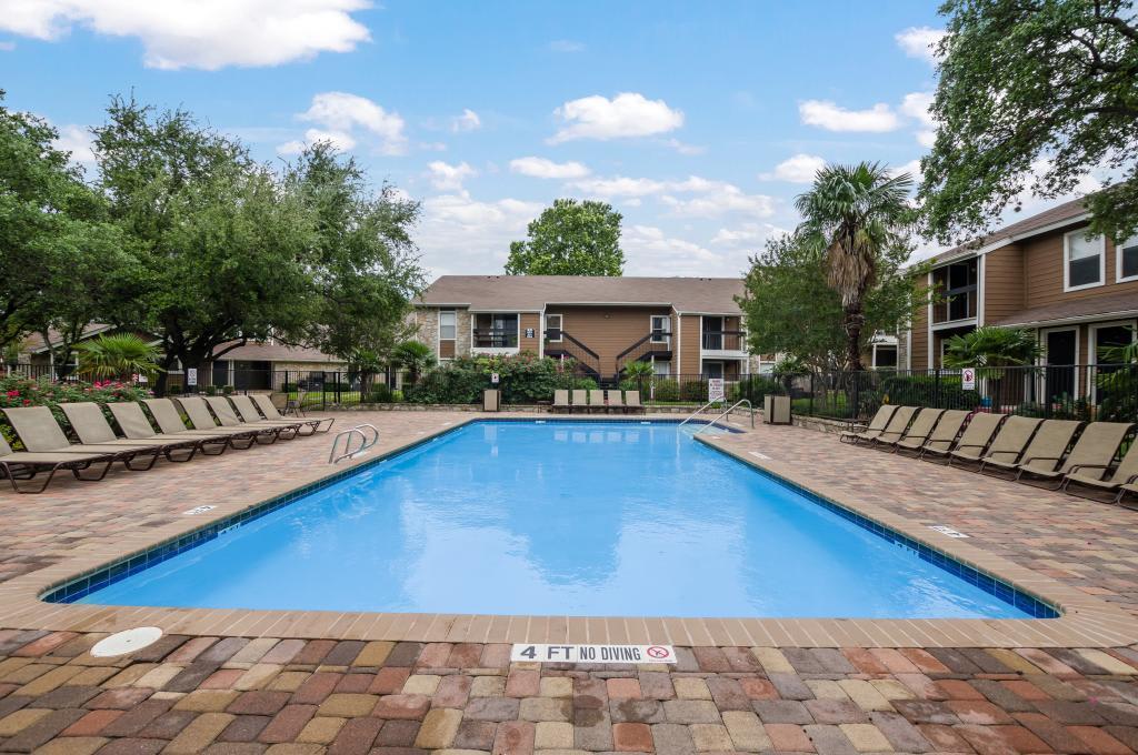 Pool With Large Pool Deck at Landmark at Atrium Commons in San Antonio