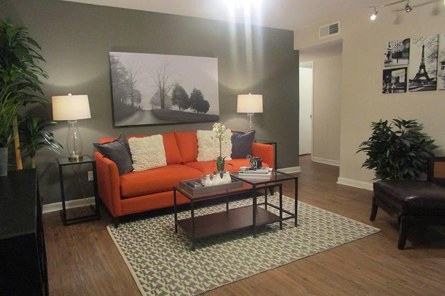 Living Room at Landmark at Kendall Manor