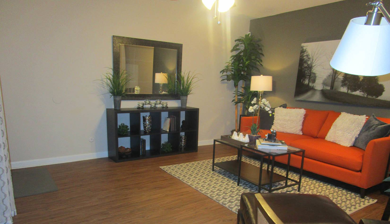 Spacious Living Room at Landmark at Kendall Manor in Houston