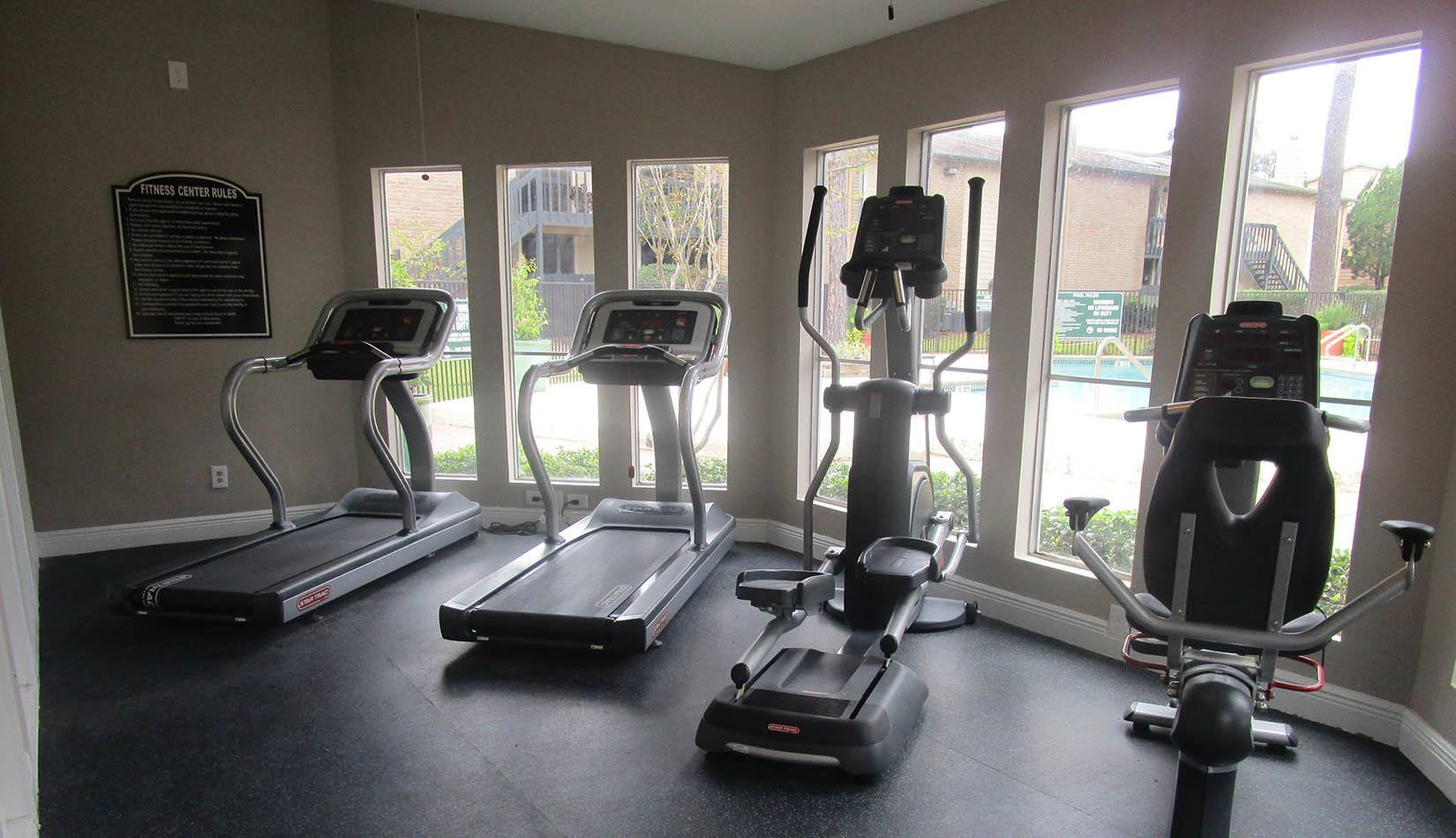 Well Equipped Fitness Center at Landmark at Kendall Manor in Houston
