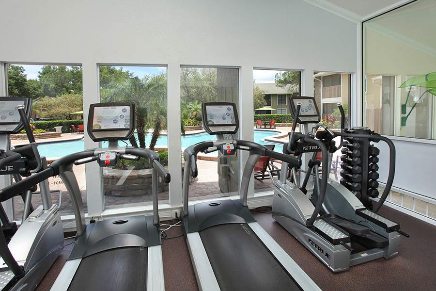 Fitness Center at Legend Oaks Apartments in Tampa
