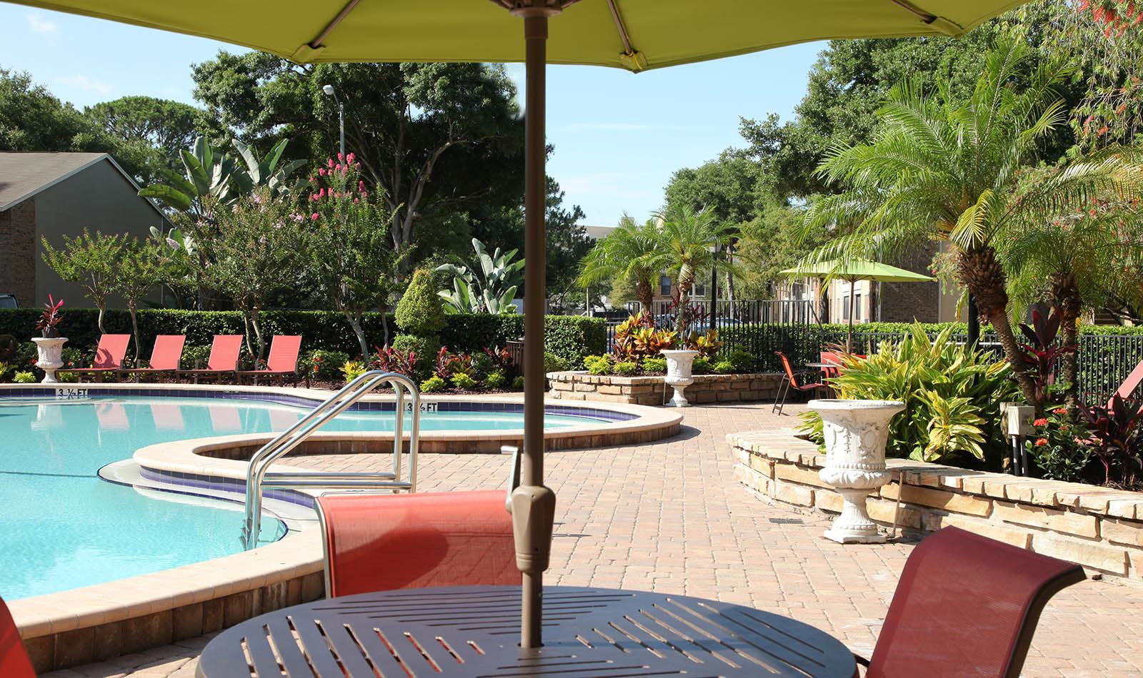Outdoor Pool at Legend Oaks Apartments in Tampa