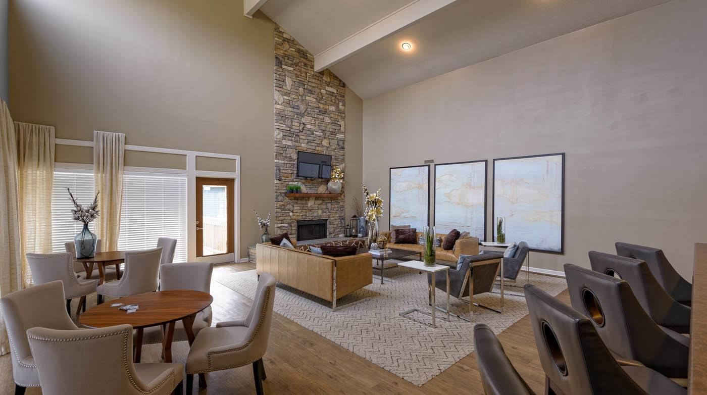 Clubhouse Living Room at Madison Southpark in Charlotte