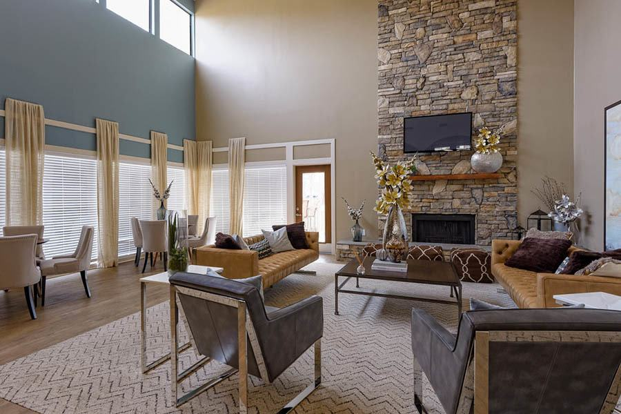 Living Area at Madison Southpark in  Charlotte
