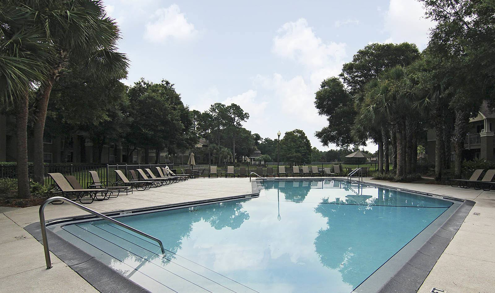 Pool at apartments in Jacksonville, FL