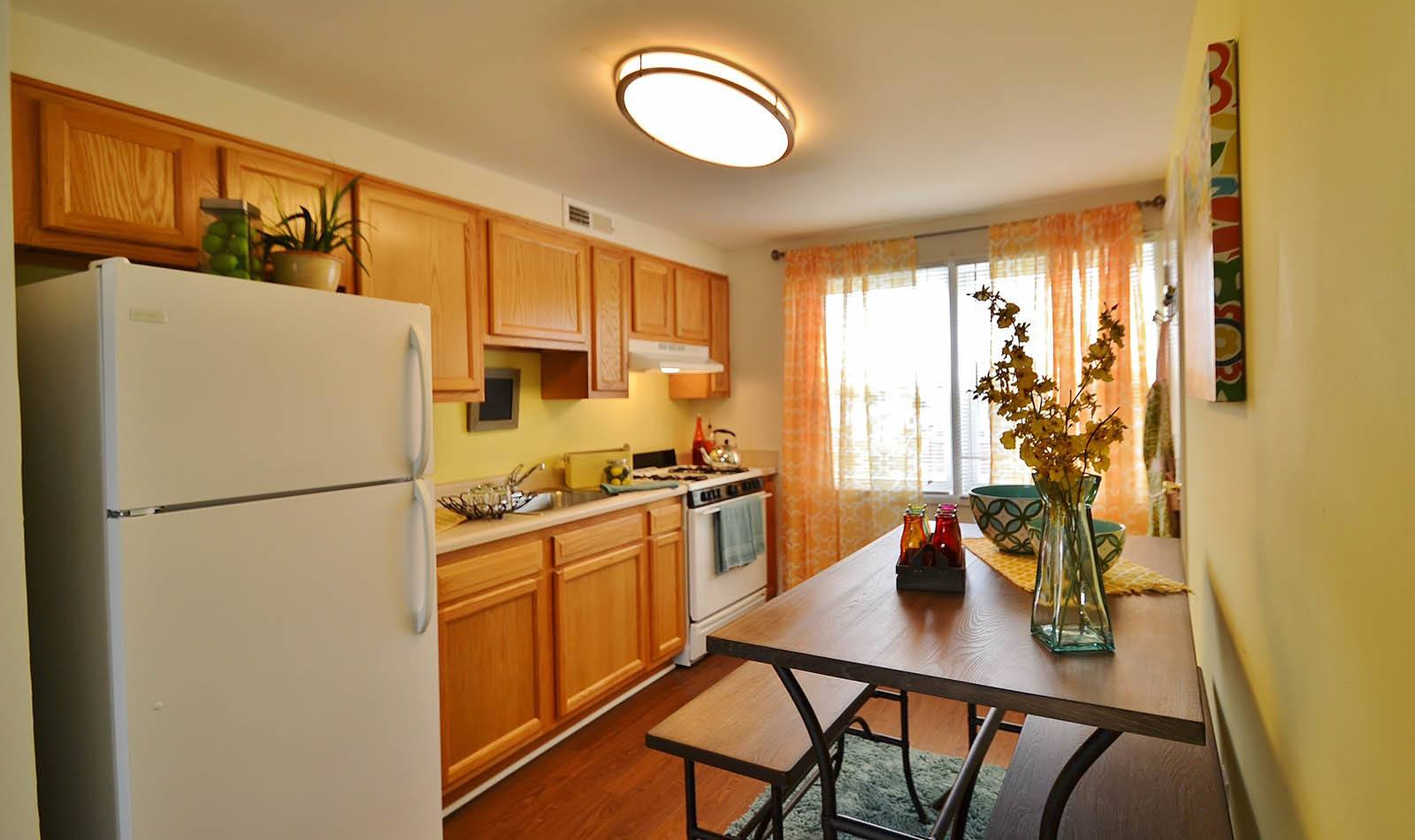 Kitchen at apartments in MD