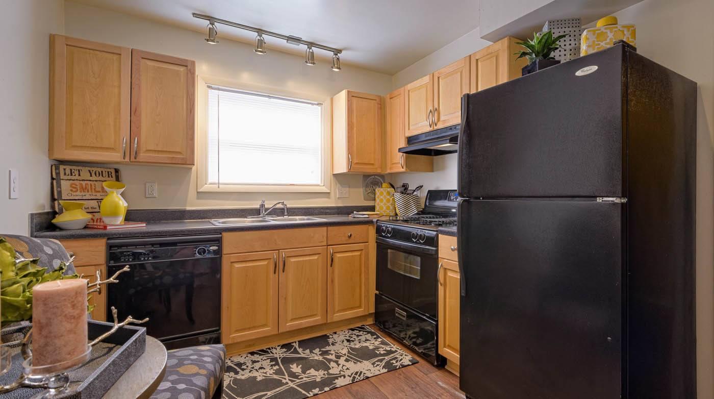 Kitchen at apartments in Richmond, VA