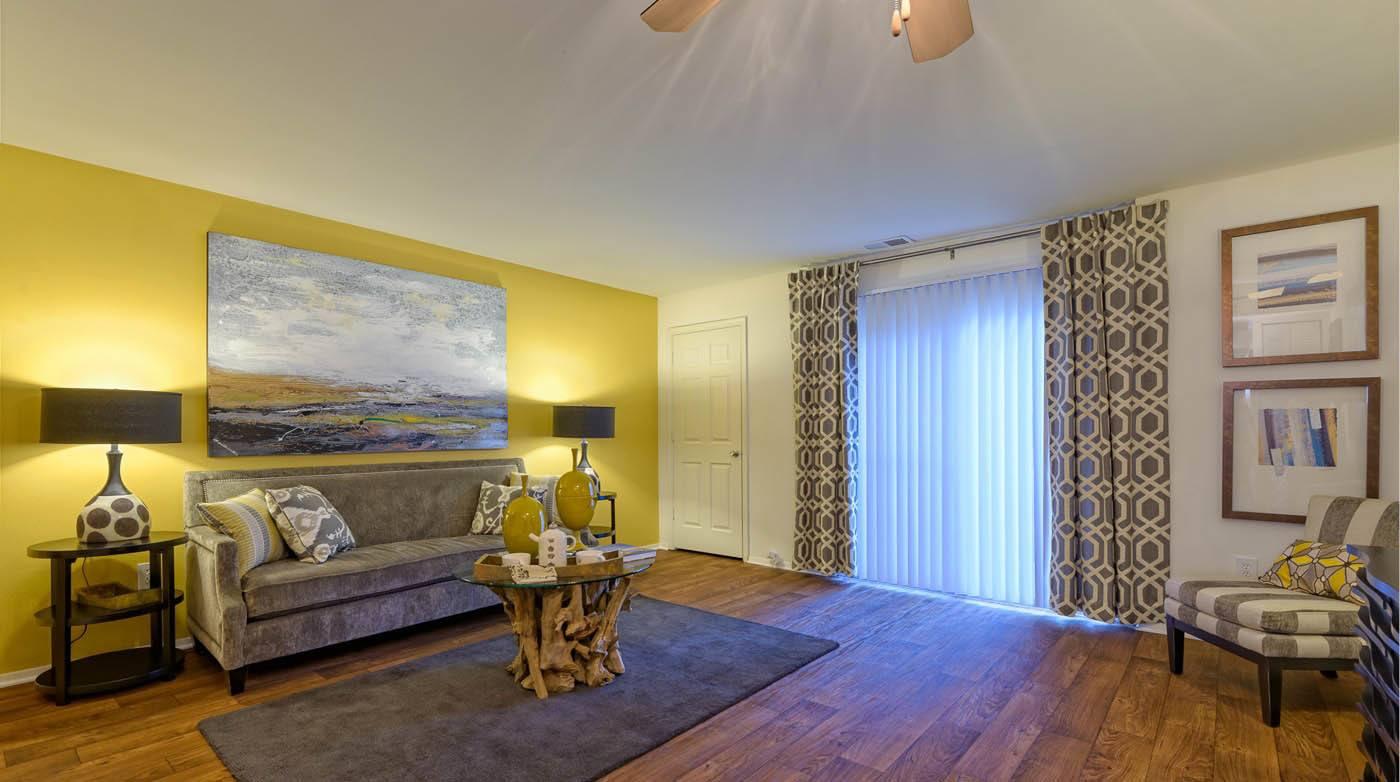Living room at Millspring Commons in Richmond, VA