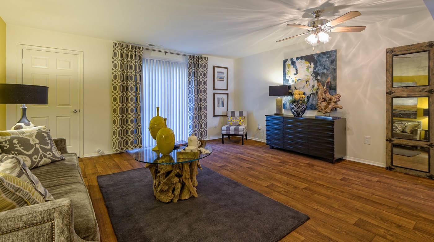 Spacious interior at apartments in Richmond, VA