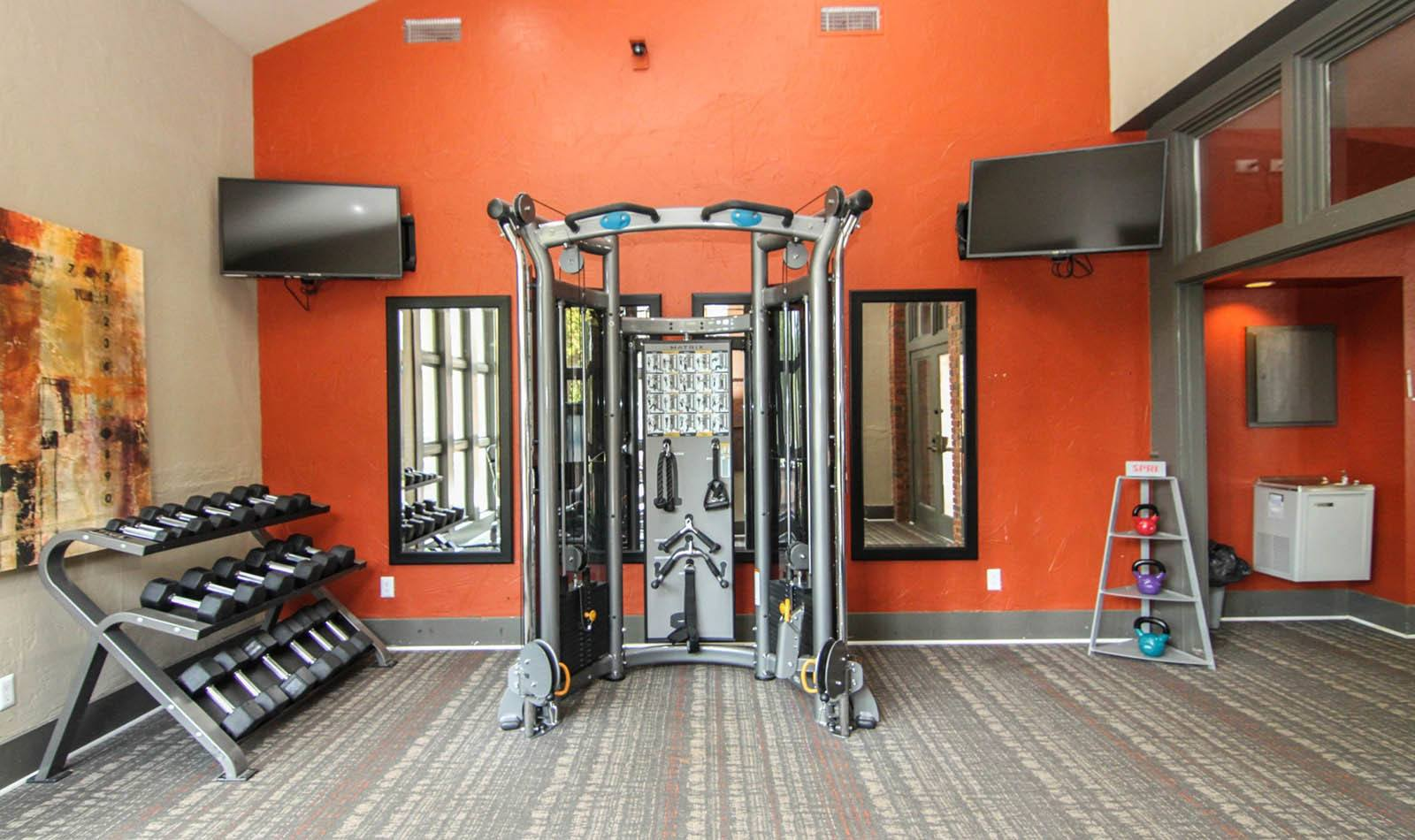Free Weights And Weight Machine at Paces Pointe in Matthews, NC