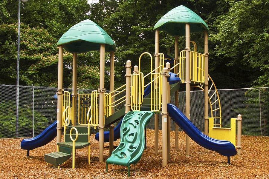 Playground at apartments in Charlotte