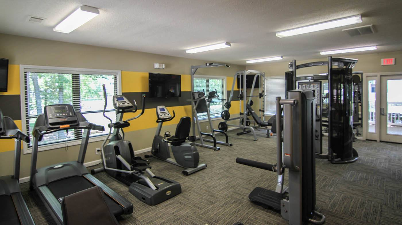 Fitness center at Southpark Commons in Charlotte, NC