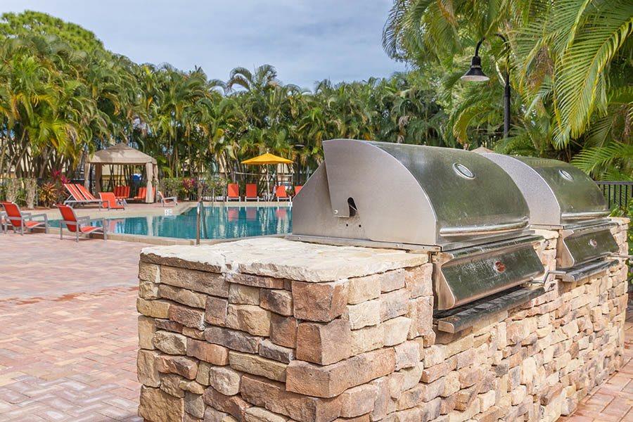 BBQ at apartments in Palm Beach