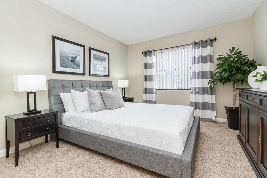 Bedroom at apartments in Palm Beach