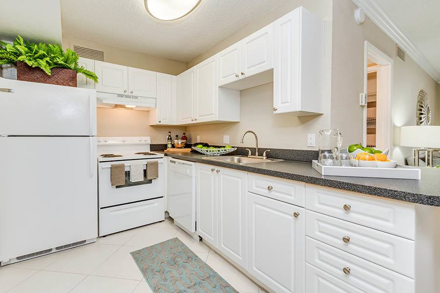 Kitchen at apartments in Palm Beach