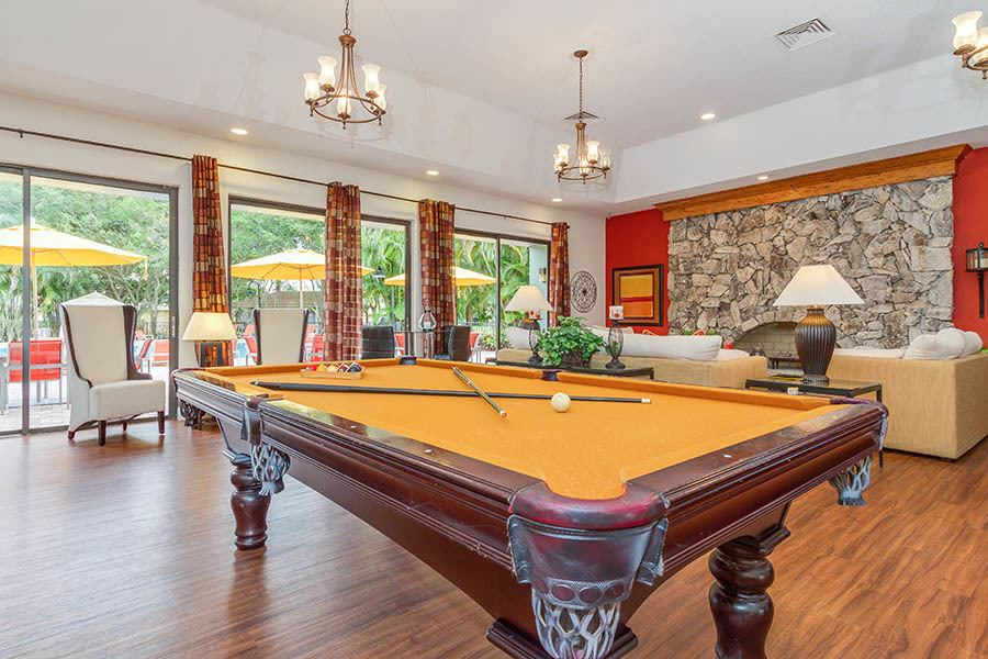 Pool table at apartments in Palm Beach