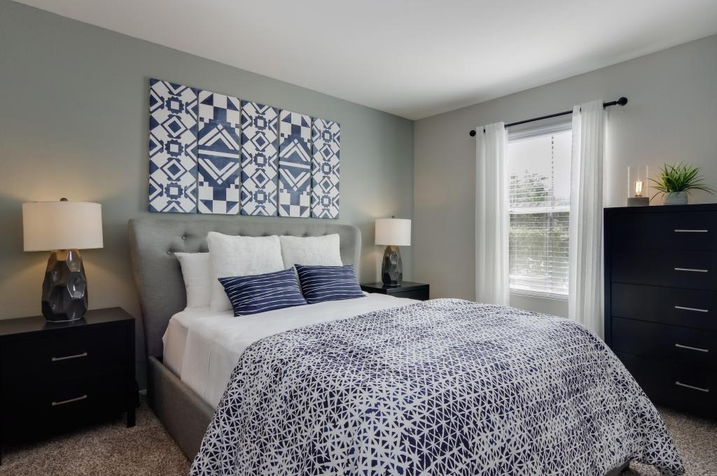 Bedroom at The Landings at Steeplechase in Houston