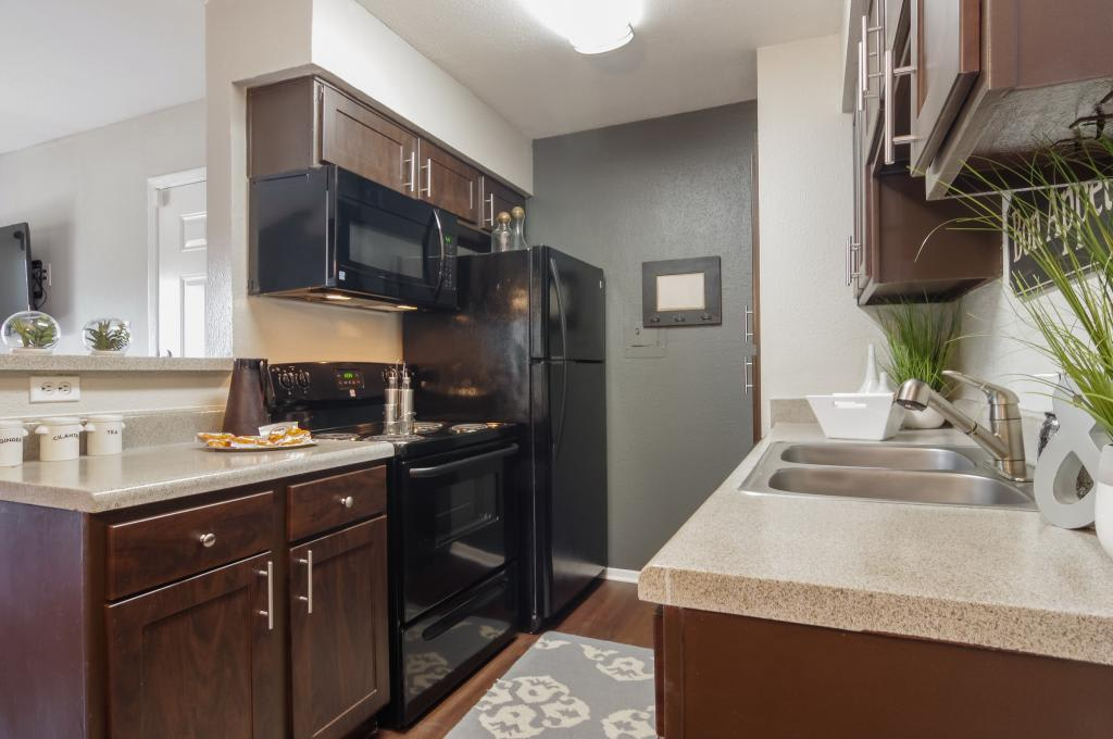 Kitchen at The Landings at Steeplechase in Houston