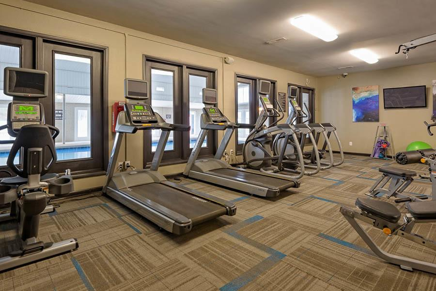 Gym At Apartments In Raleigh