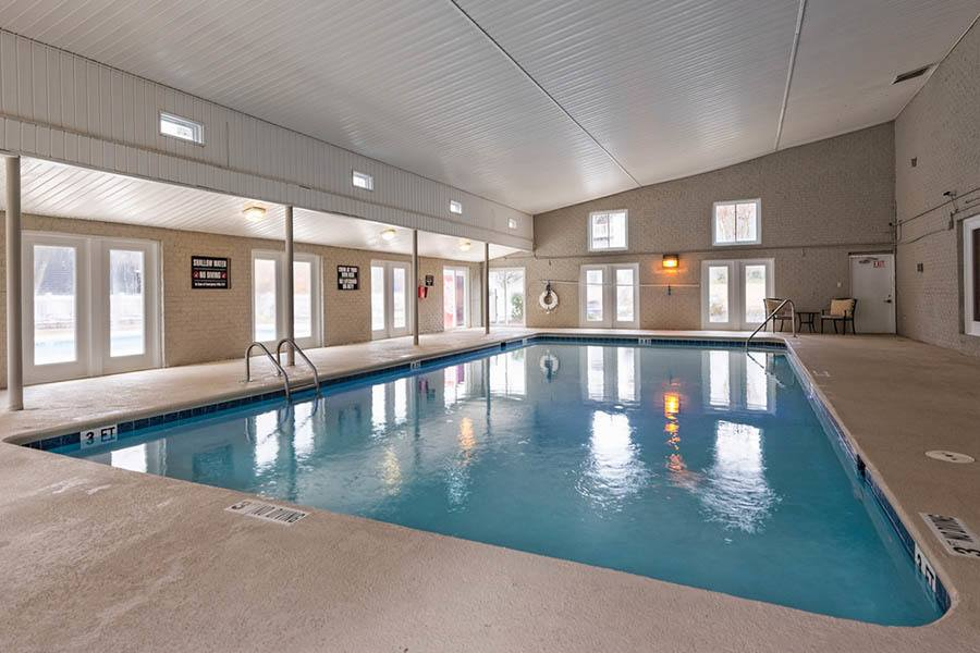 Pool at apartments in Raleigh