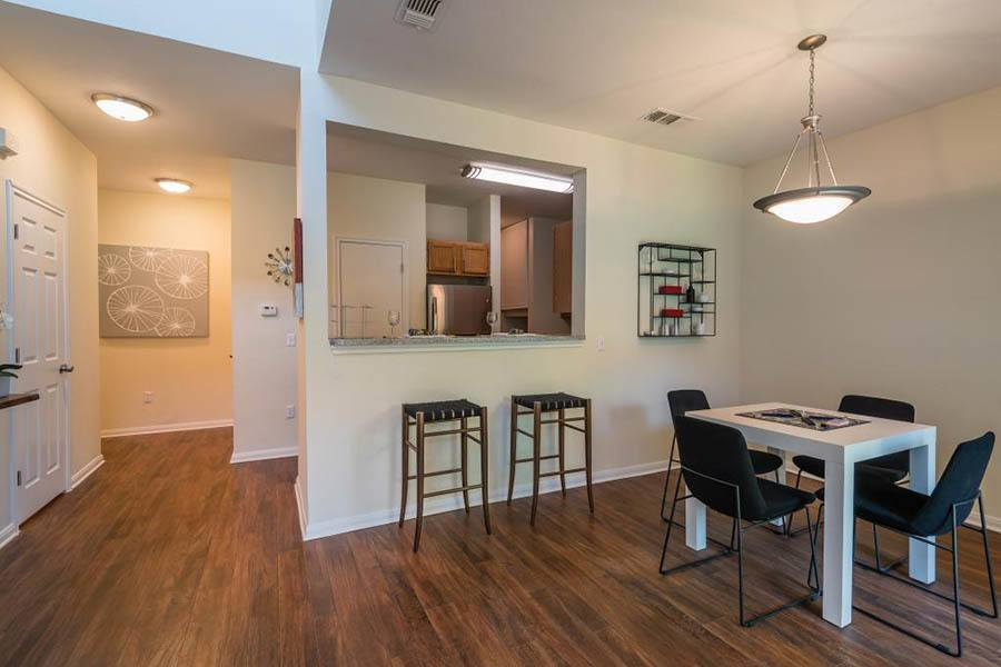 Dining room at apartments in Fort Worth