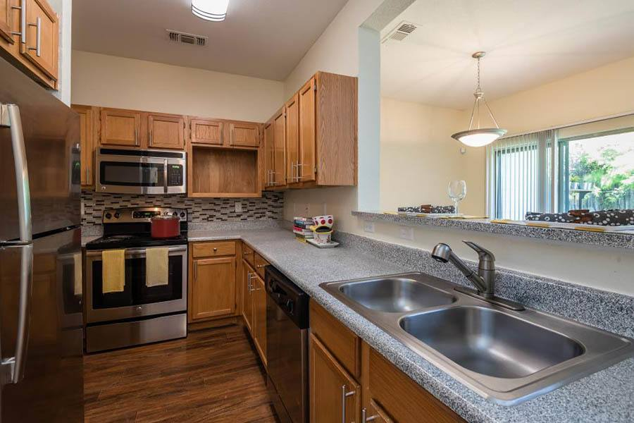 Kitchen at apartments in Fort Worth