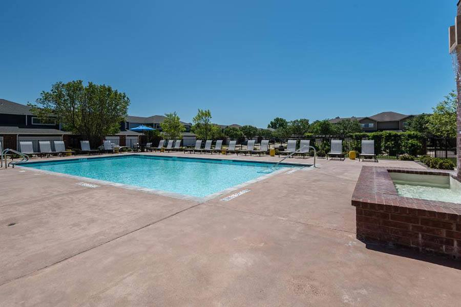 Pool at apartments in Fort Worth