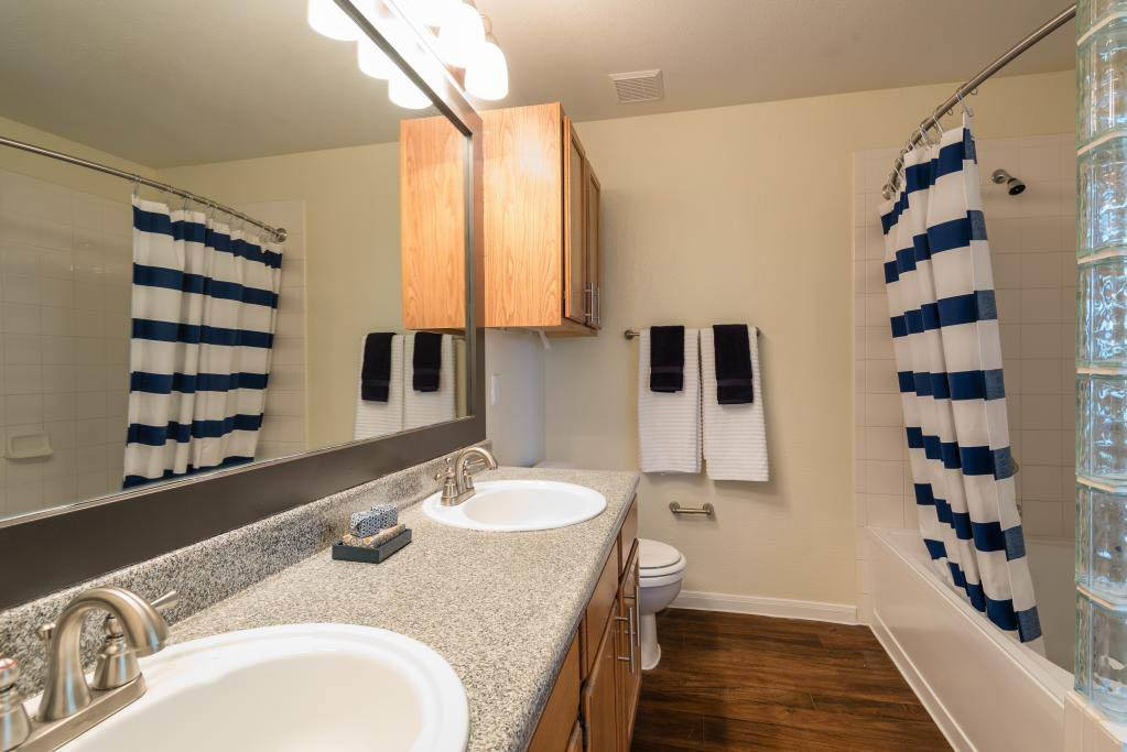 Bathroom at apartments in Fort Worth, TX