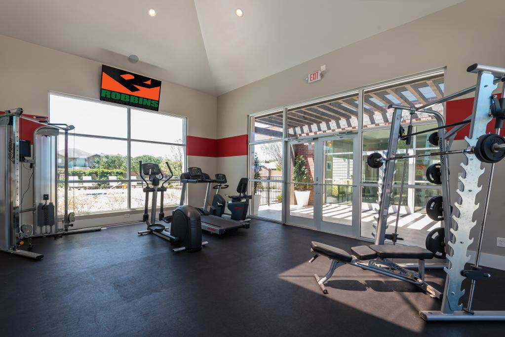 Fitness center at The Retreat in Fort Worth, TX